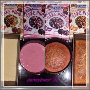 Cake Pop Teig roh und gebacken